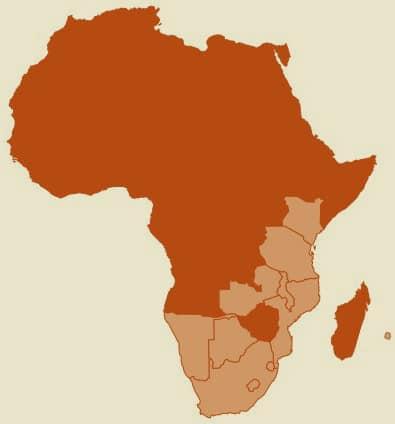 OIA landen zonder Zimbabwe en Oeganda