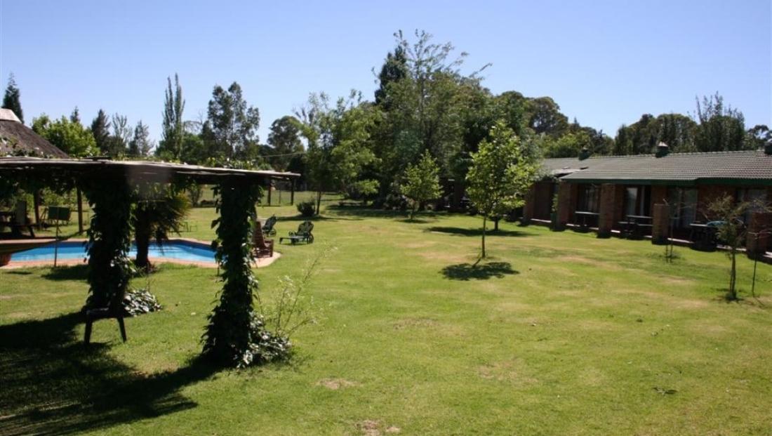 Airport Game Lodge - tuin met zwembad