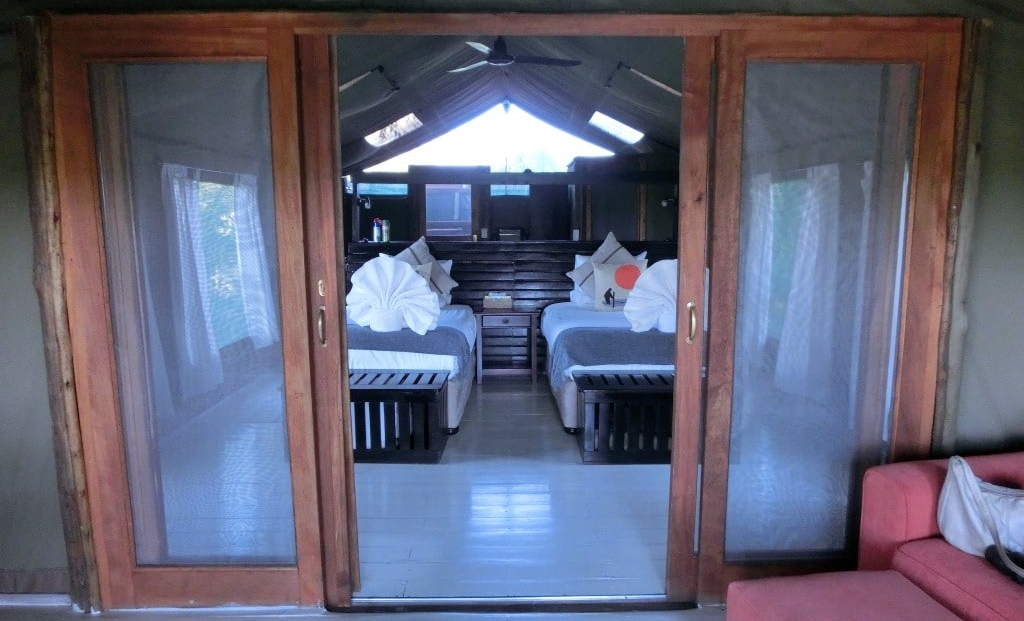 Gunns Camp - Entree van en-suite safari tent