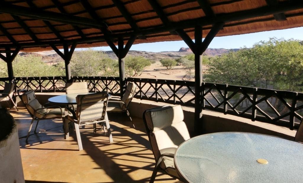 Aba Huab Campsite - Terras op bovenverdieping