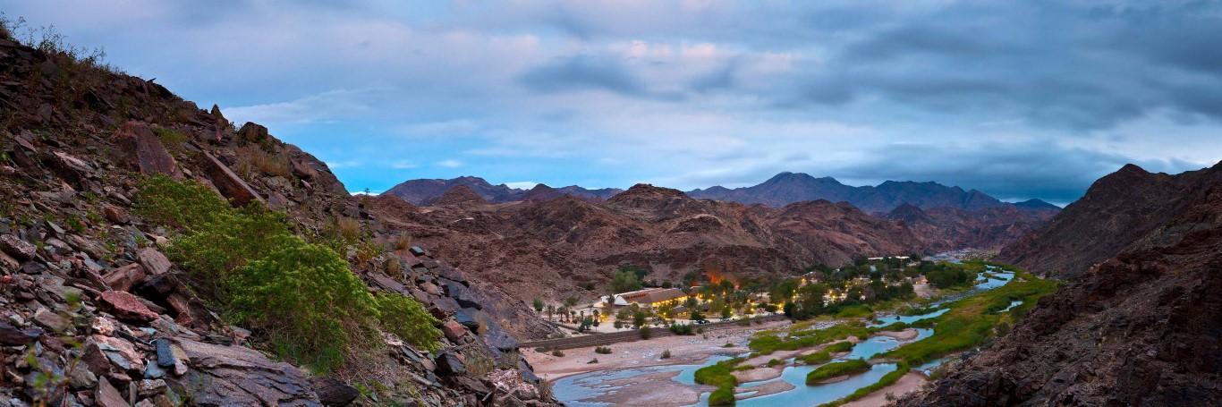 Ai-Ais Hotsprings - Overzicht vanaf de bergen