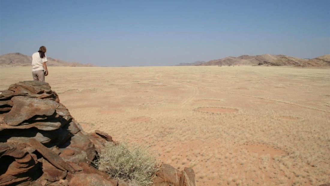 Damaraland - Uitzicht vanaf de rotsen