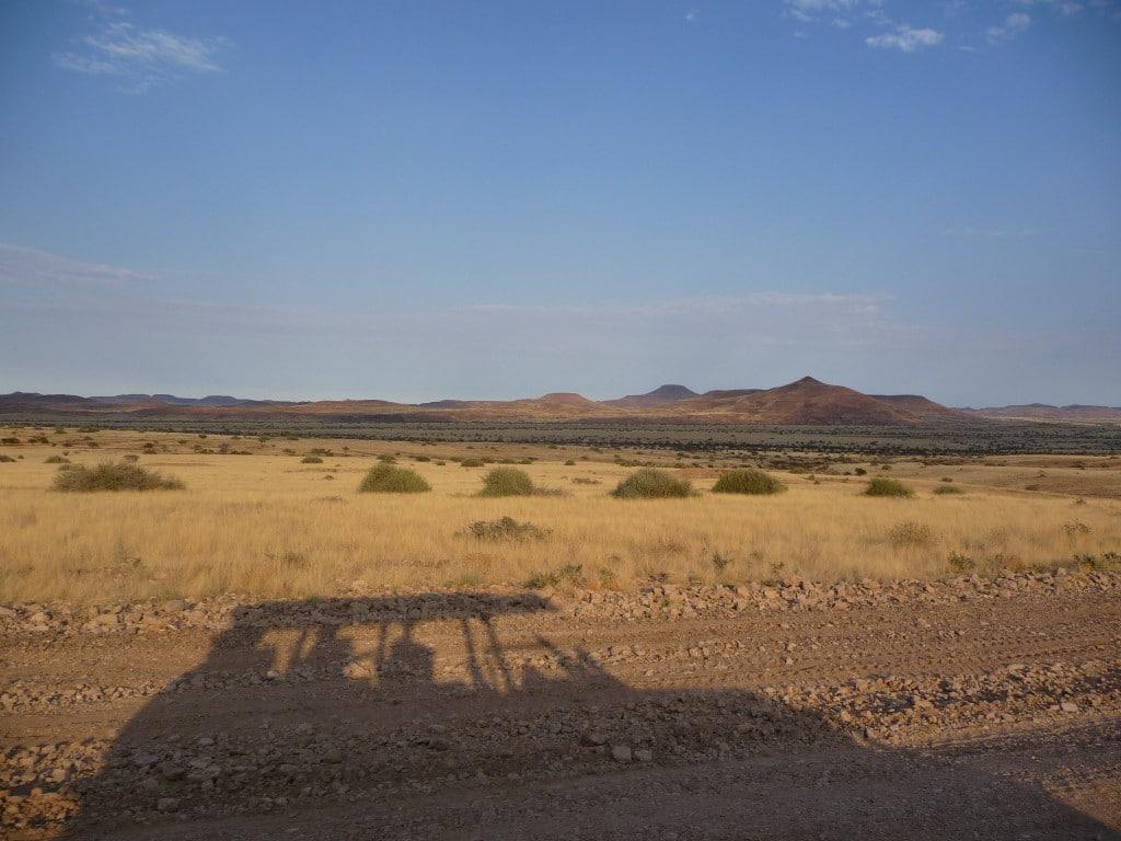 Familiereizen Namibië: Droogte en weidsheid van de landschappen in Namibië.