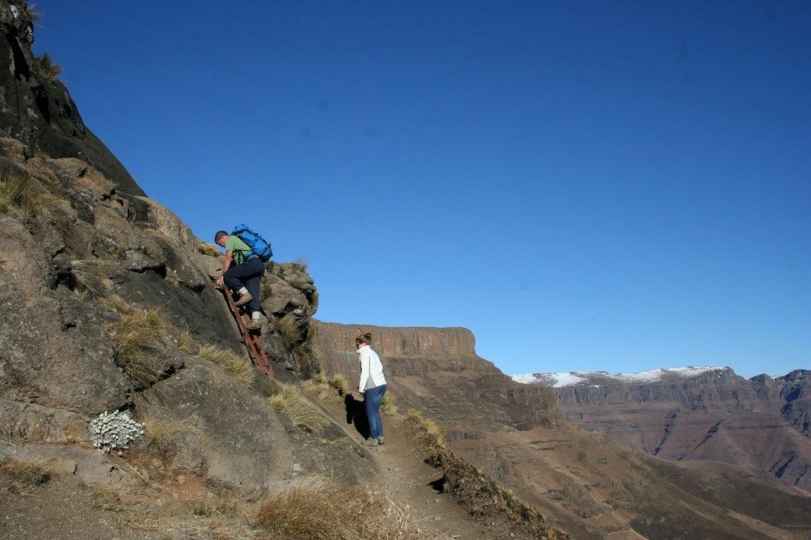 Natuur in Zuid-Afrika - Klimmen naar de top van het Amphitheatre