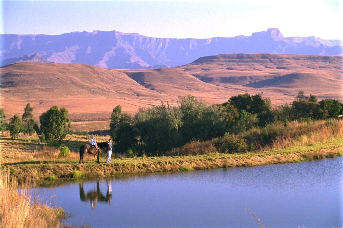 Drakensbergen - paardrijden