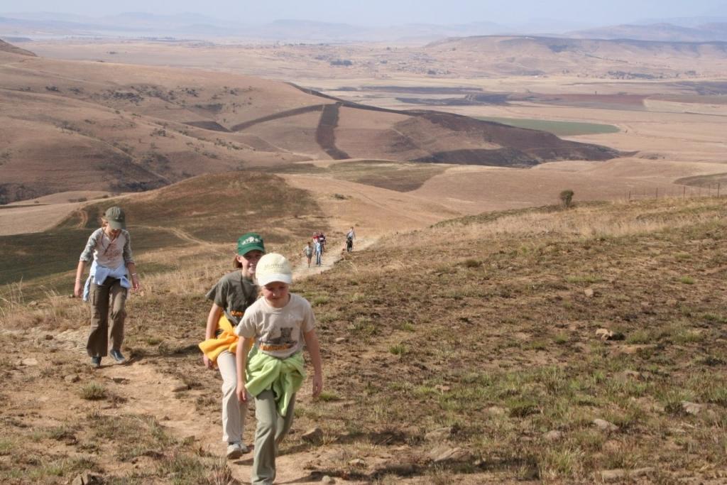 Wandelen, KwaZulu-Natal Drakensbergen, Zuid-Afrika - Bezienswaardigheden Zuid-Afrika