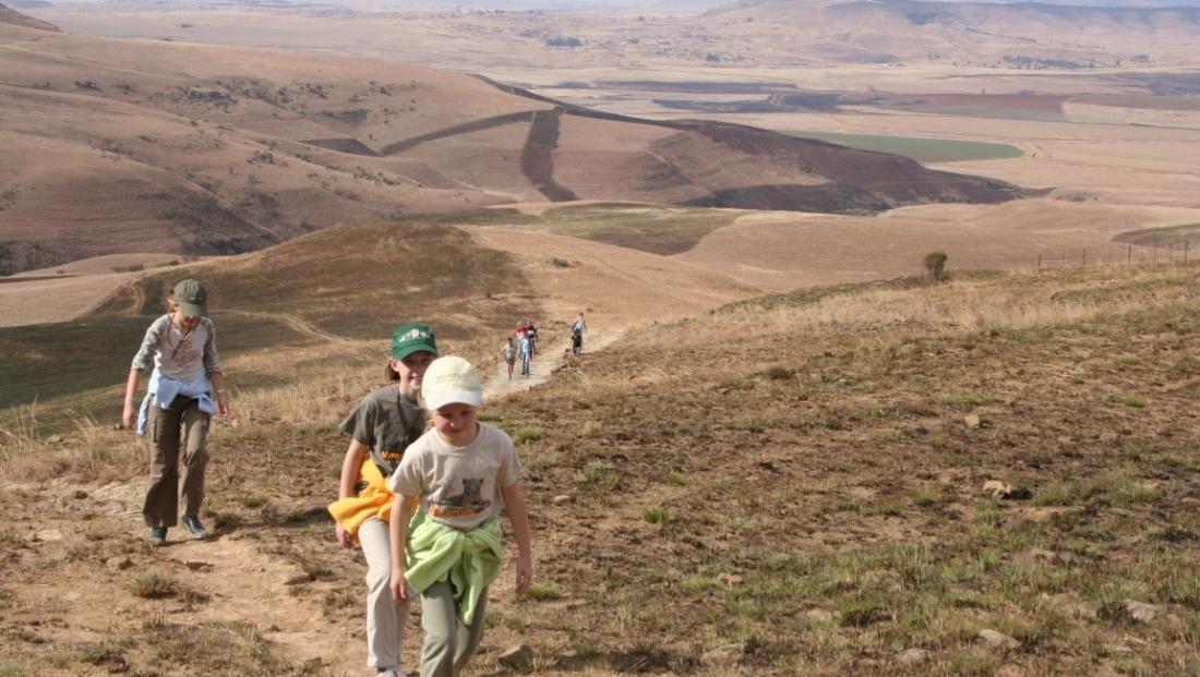 Drakensbergen - berg wandeling