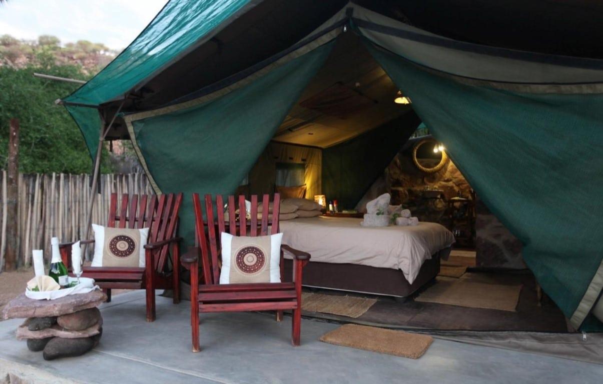 Kampeerreizen in Afrika - Glamping in Namibië, Epupa Camp