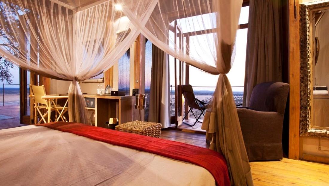 Etosha National Park - slaapkamer - uitzicht