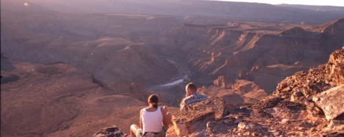 Fish River Canyon - uitzicht landschap