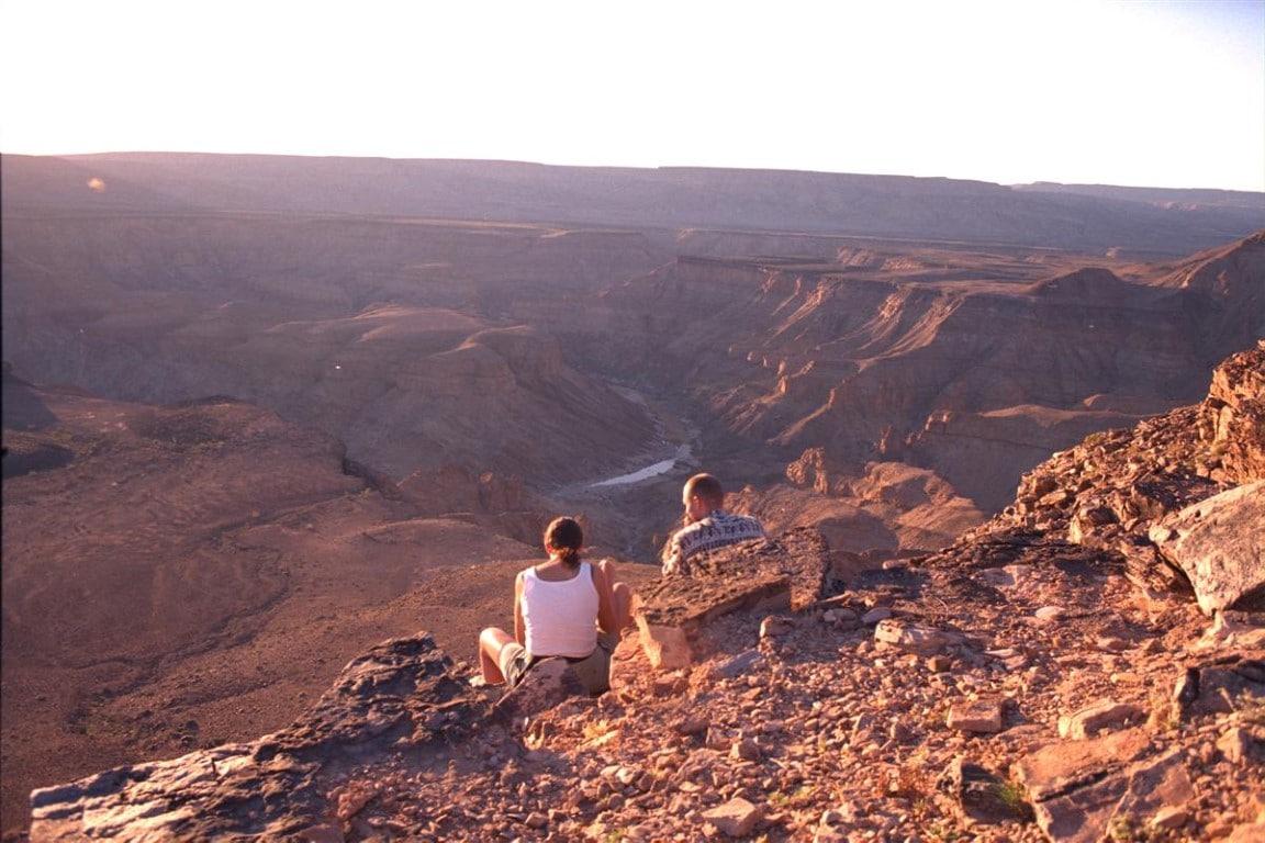 Fish River Canyon - uitzicht landschap