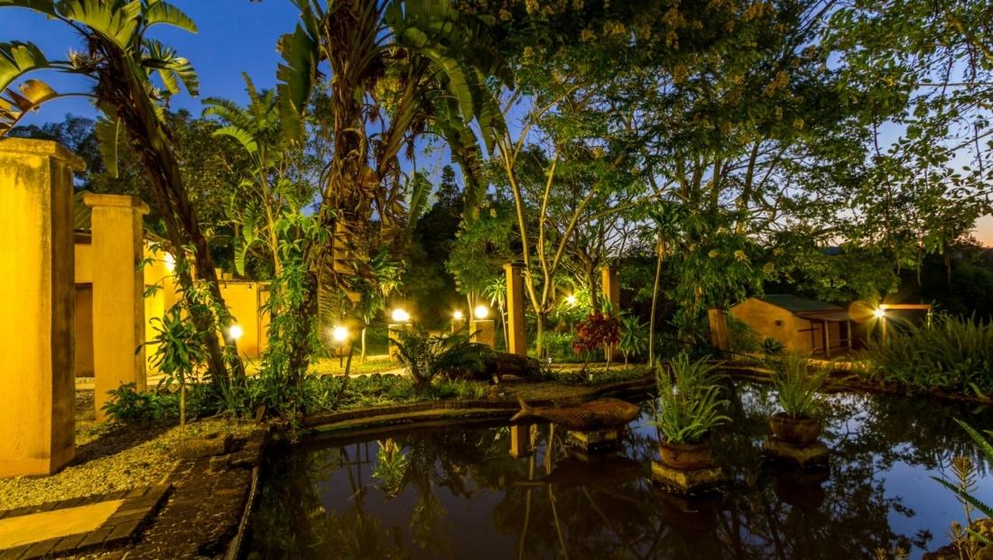 Gecko Lodge - tuin - vijver