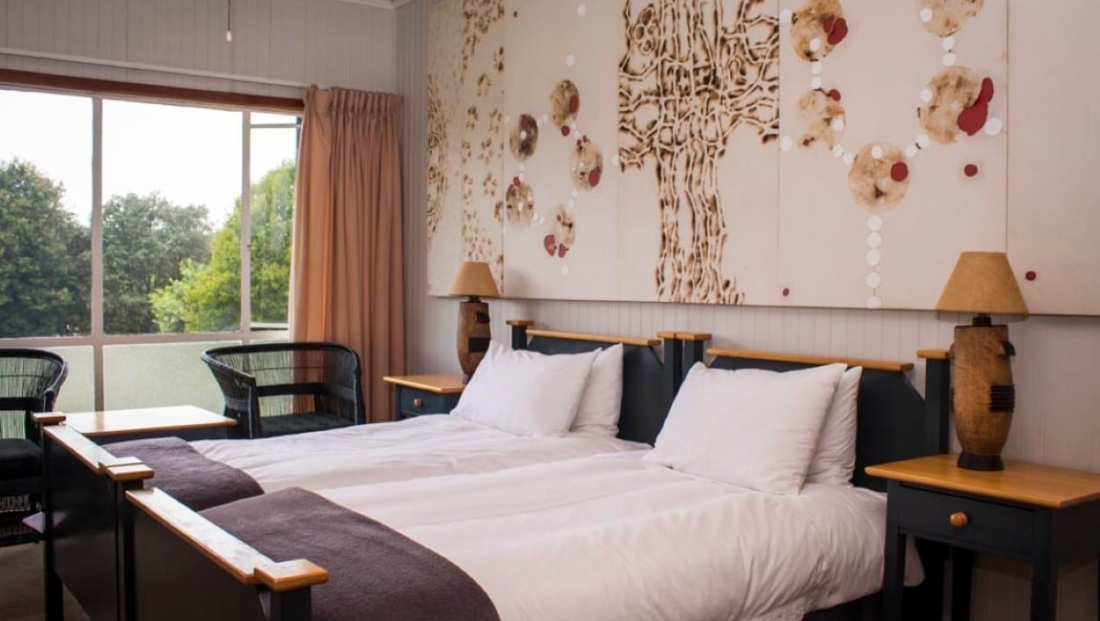 Graskop Hotel - slaapkamer