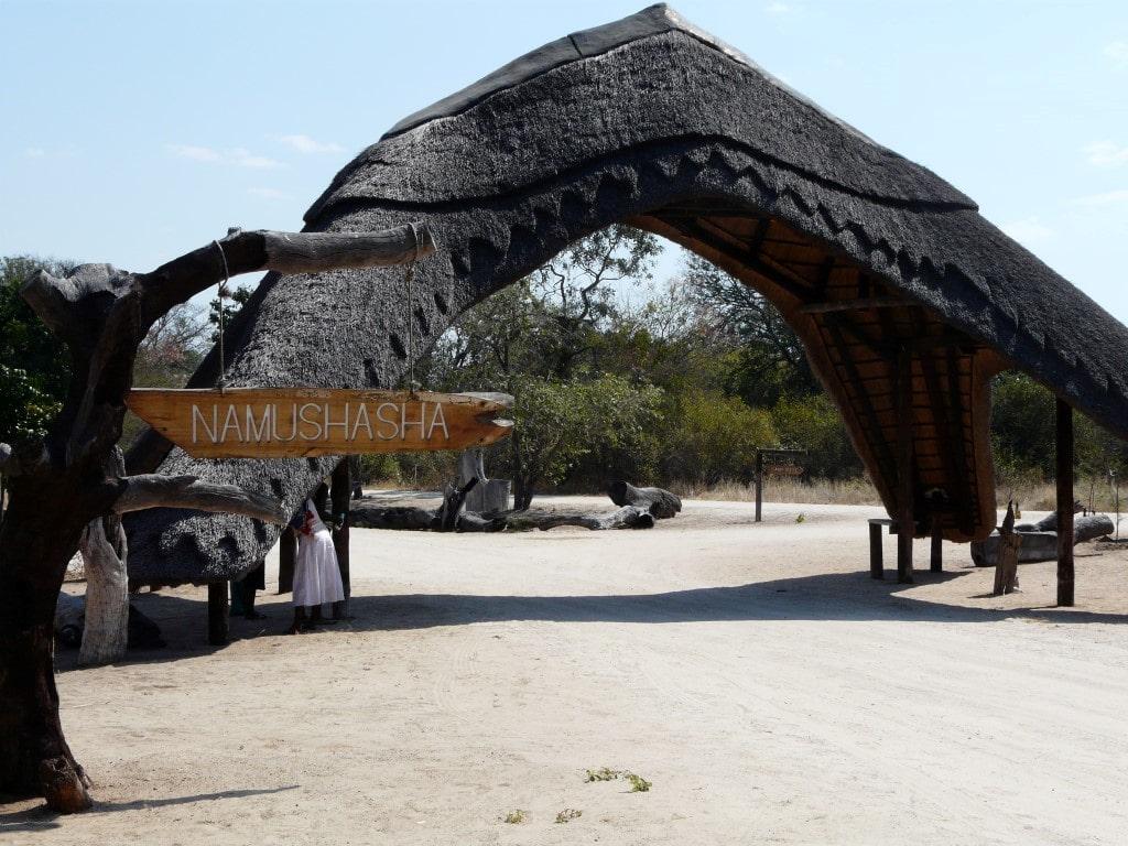 Namushasha Lodge - entree