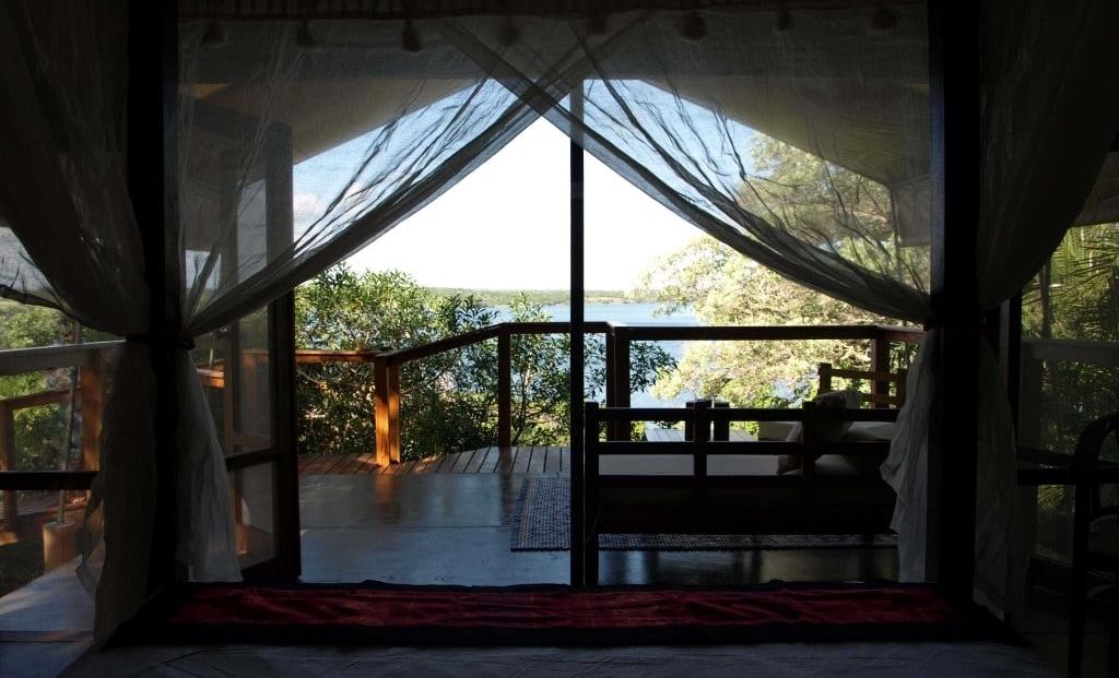 Naara Eco-Lodge - Uitzicht vanuit slaapkamer