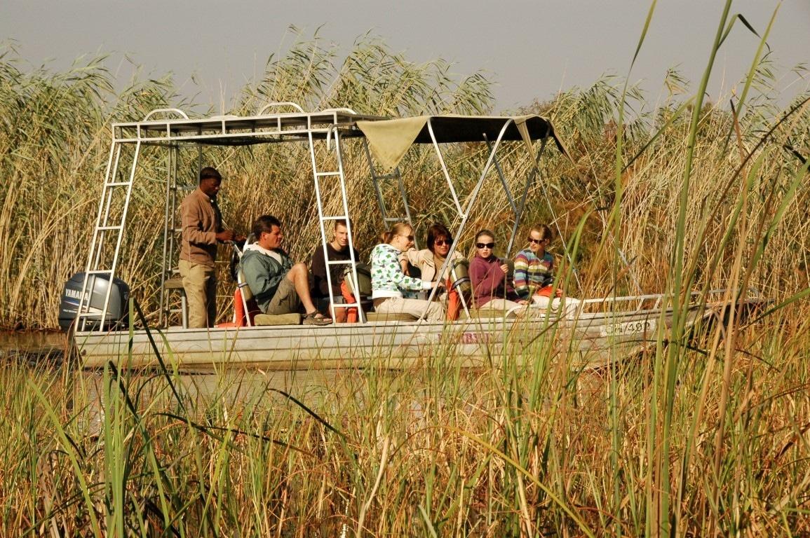 Namushasha Lodge - boottocht
