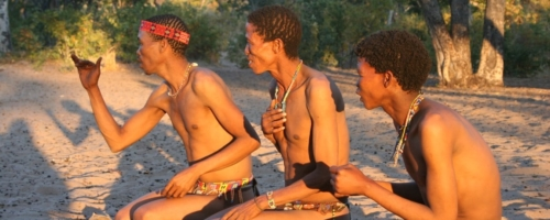 Bushmen - In het zand