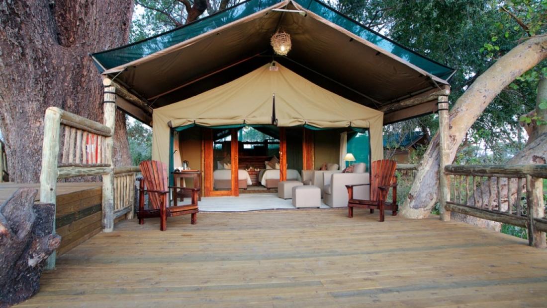 Gunns Camp - Safari tenten met eigen terras