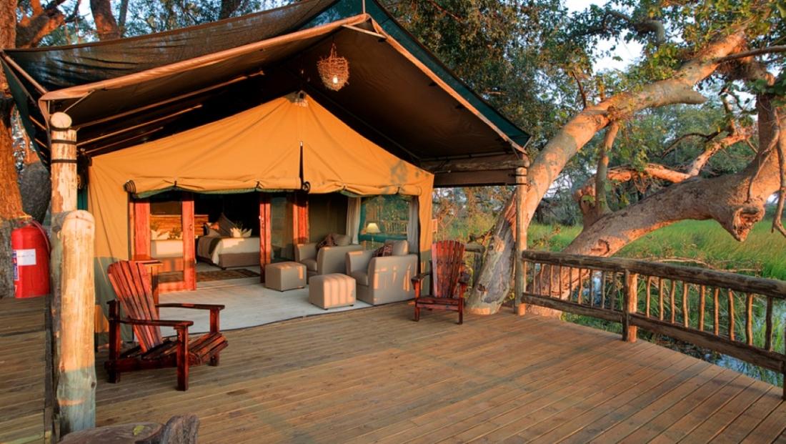 Gunns Camp - Ruime en-suite tent met eigen terras