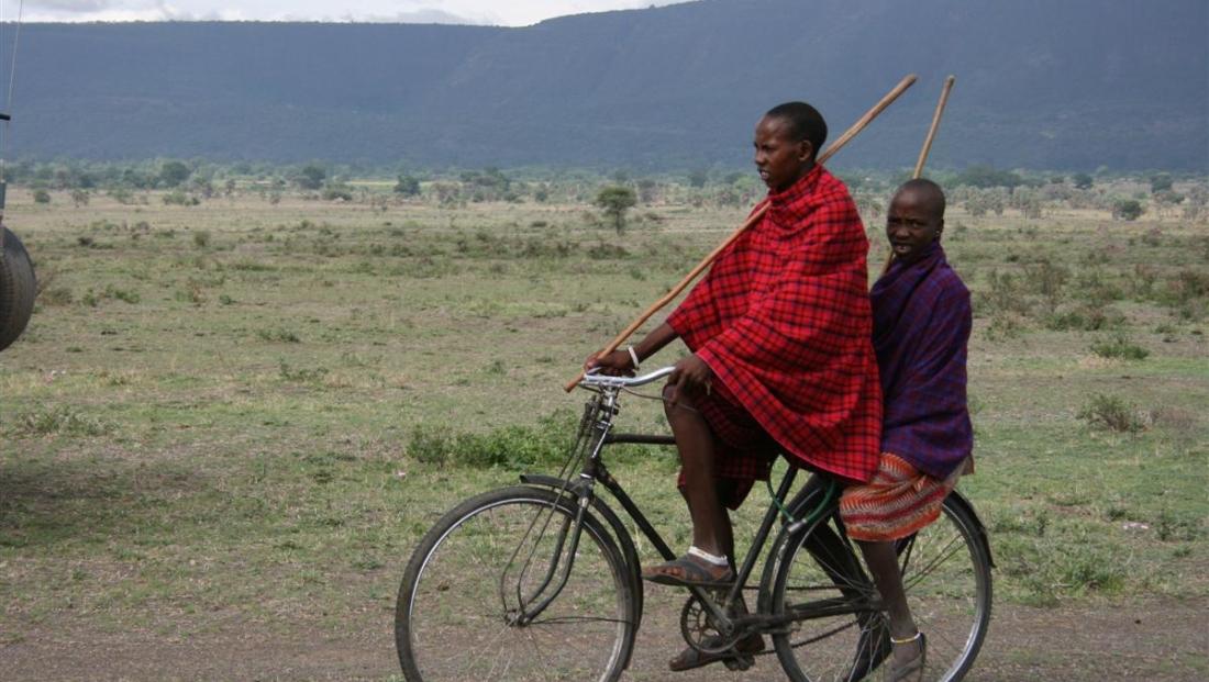 Masaai - op de fiets