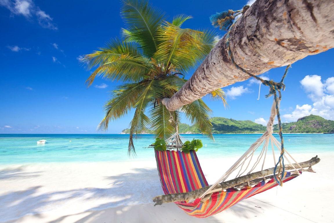 Luxe reizen Afrika - Hangmat strand Seychellen