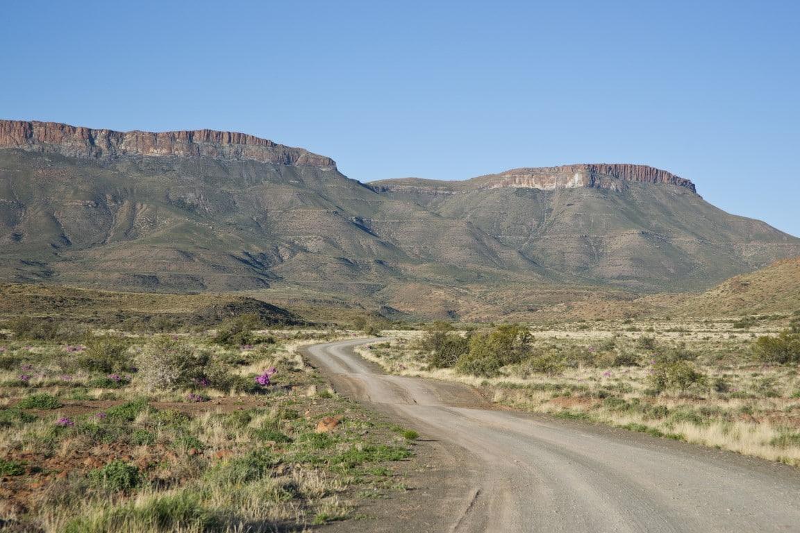 Kampeerreizen in Afrika - Ritten door de bergen in de Karoo