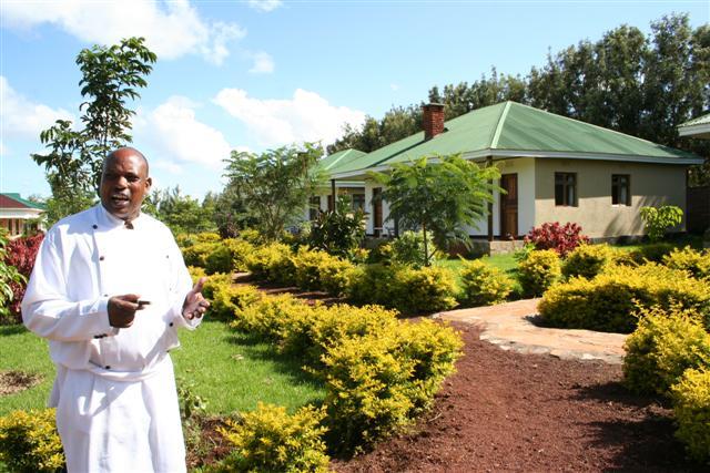 Country Lodge - chef in de tuin
