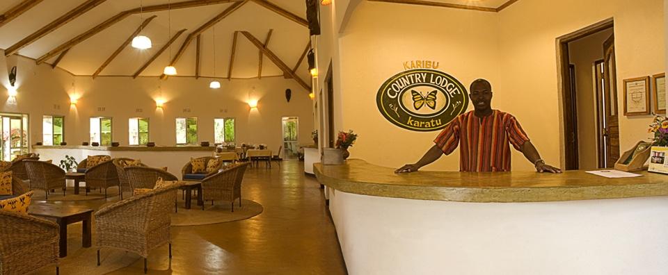 Country Lodge - receptie en lounge