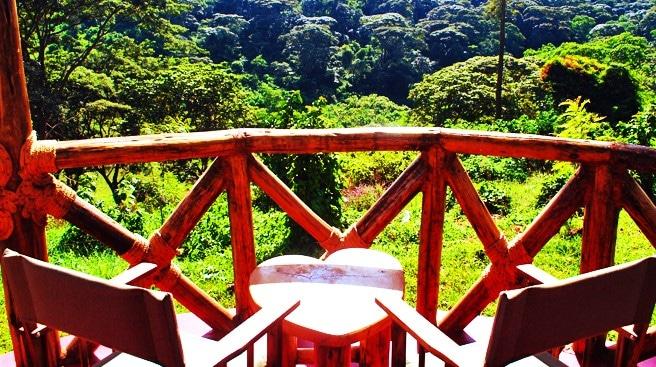 Hhando Coffee Lodge - terrasje bij kamer