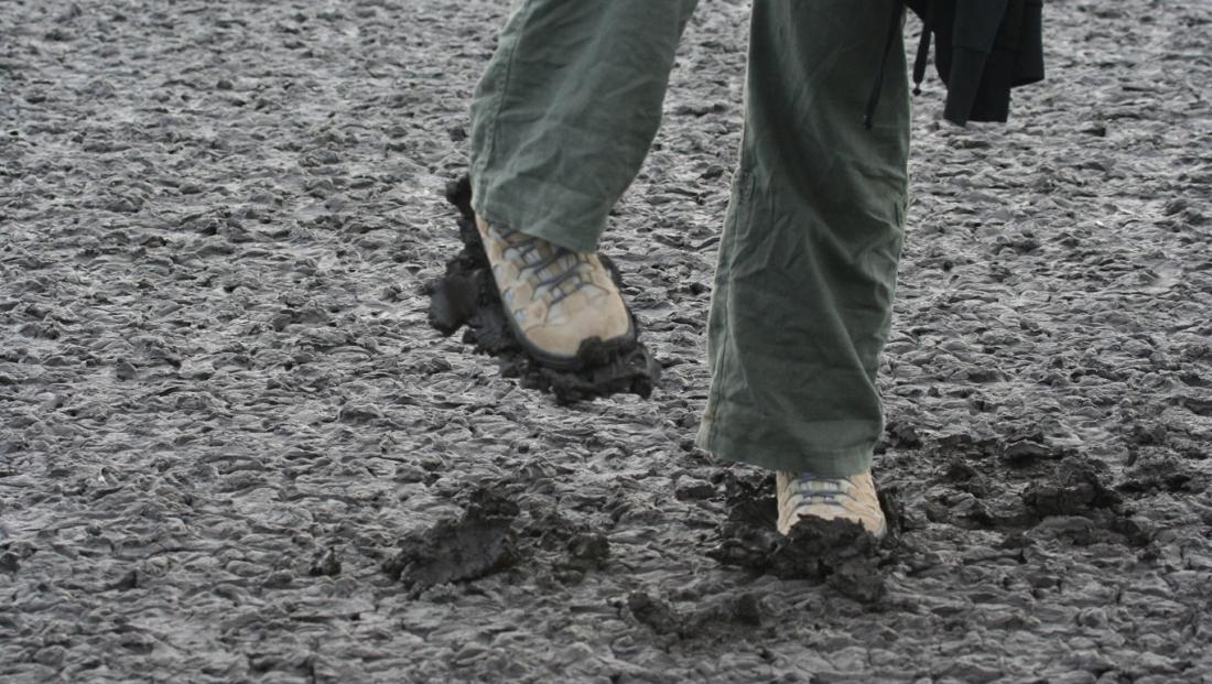 Lake Natron - lopen in de modder