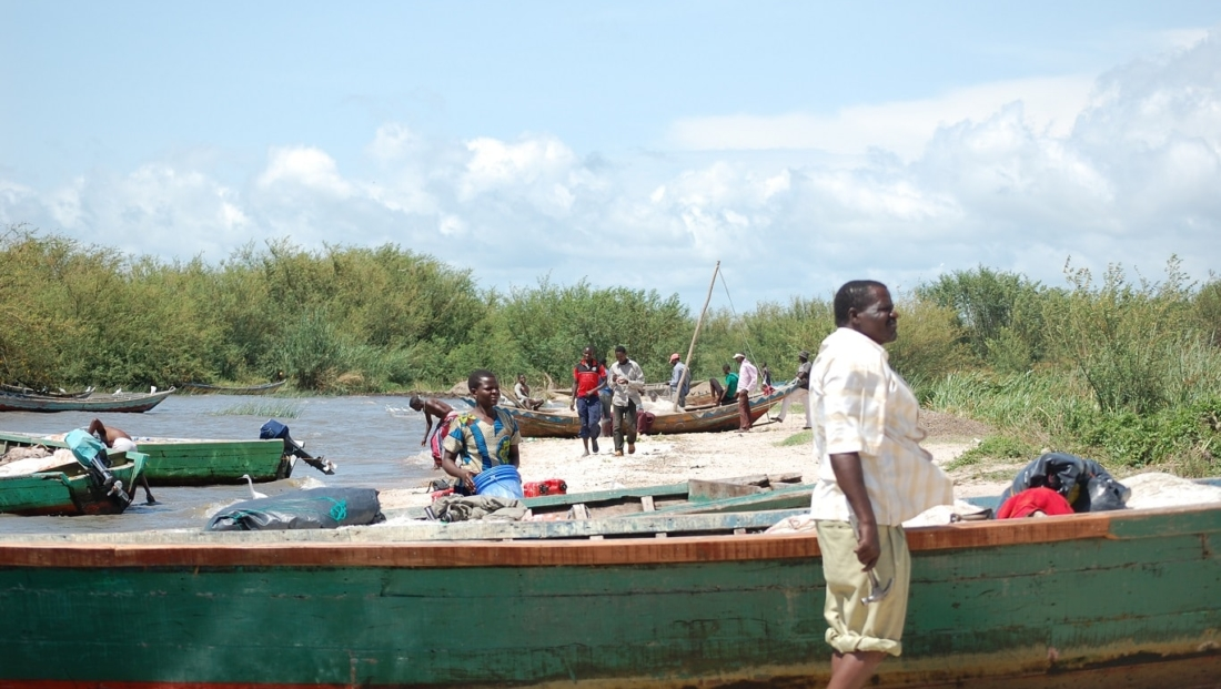 Lake Victoria - vissers en hun boten
