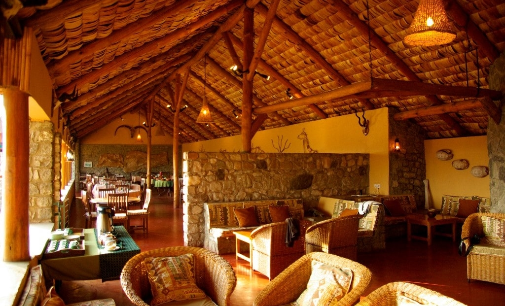 Ndutu Safari Lodge - restaurant en lounge
