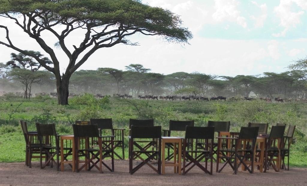 Ndutu Safari Lodge - uitzicht vanaf vuurplaats