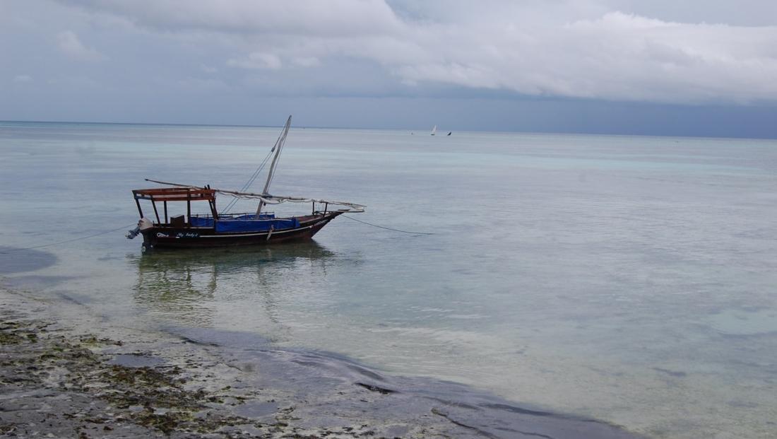 Zanzibar - bootje bij het strand