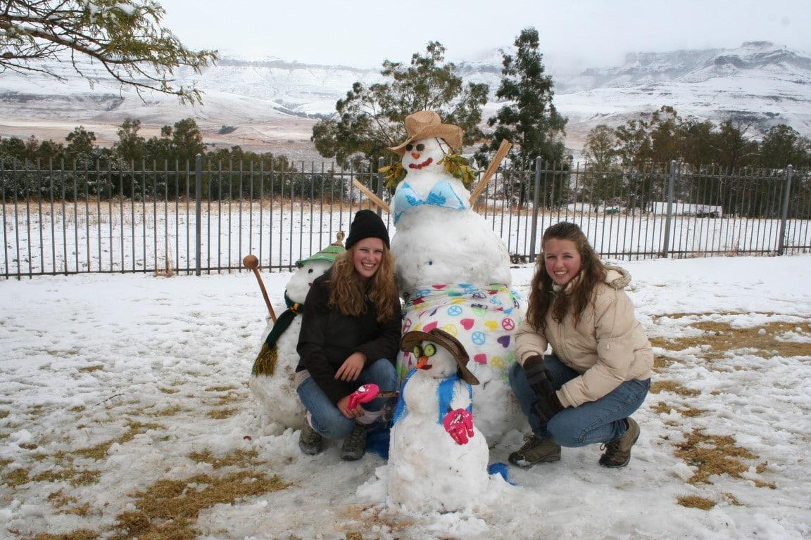 Wanneer kun je het beste naar Zuid Afrika - sneeuw, Drakensbergen, Zuid Afrika
