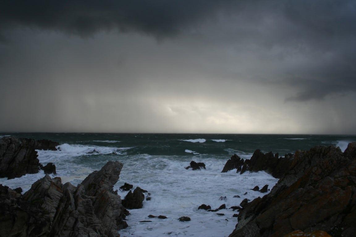 Wanneer kun je het beste naar Zuid Afrika - donkere lucht, regen, storm, Kaapstad, Zuid Afrika