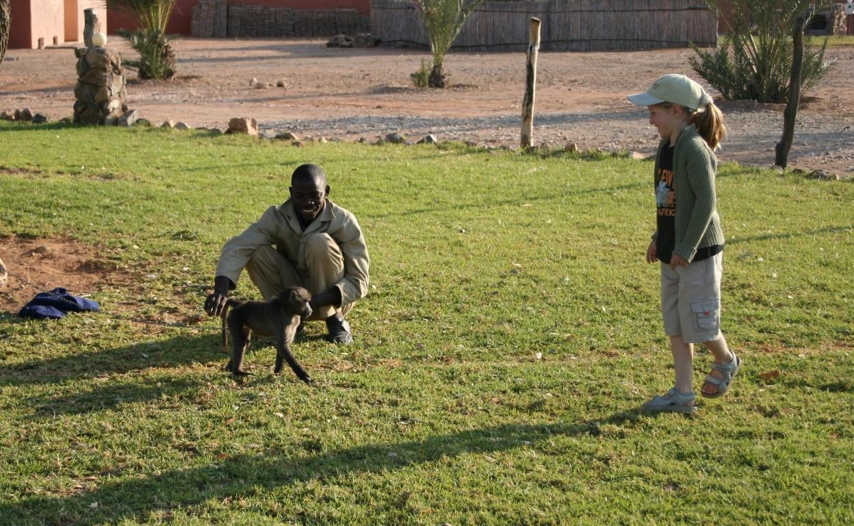 Een kindvriendelijke vakantie in Zuid-Afrika - aapje, baviaan, Monkeyland, Kaap, Zuid Afrika