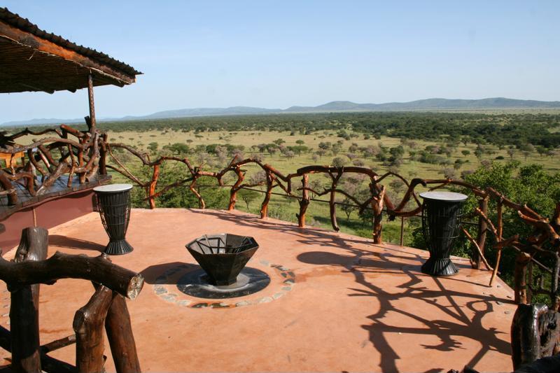 Mbalageti Serengeti - terras met vuurkorf