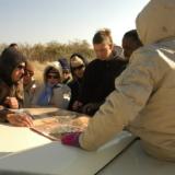 Navigeren in Zuid-Afrika - kijken naar de kaart