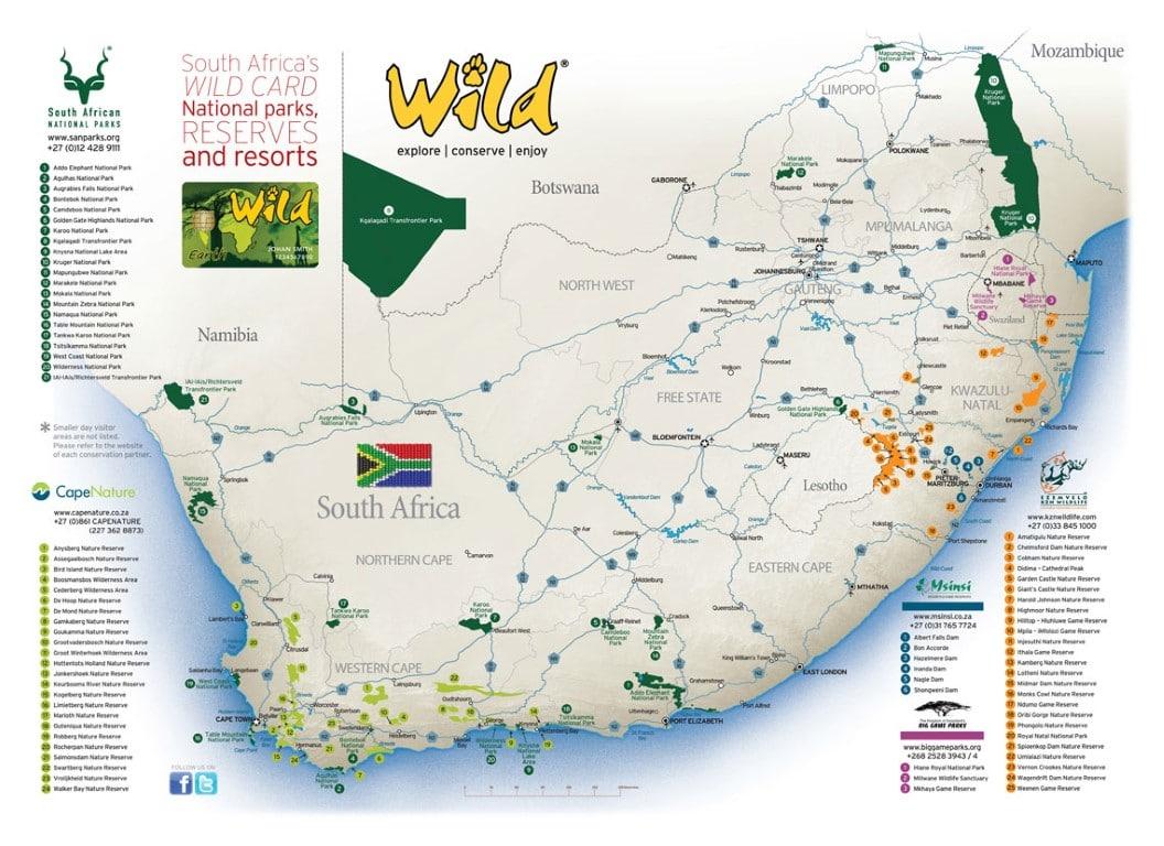 Kosten ter plaatse en boodschappen doen in Zuid Afrika - wildcard, entree, nationale parken, Zuid-Afrika