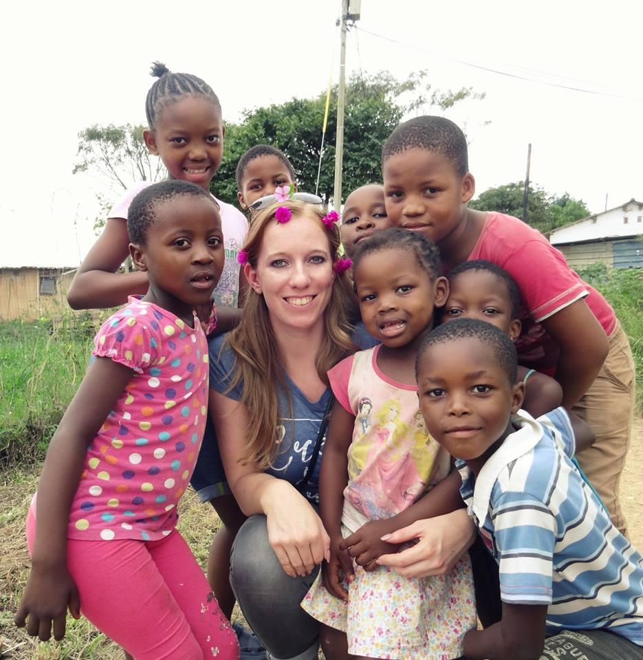 Ontmoet de locals - kinderen, township, Durban, Zululand, Zuid-Afrika
