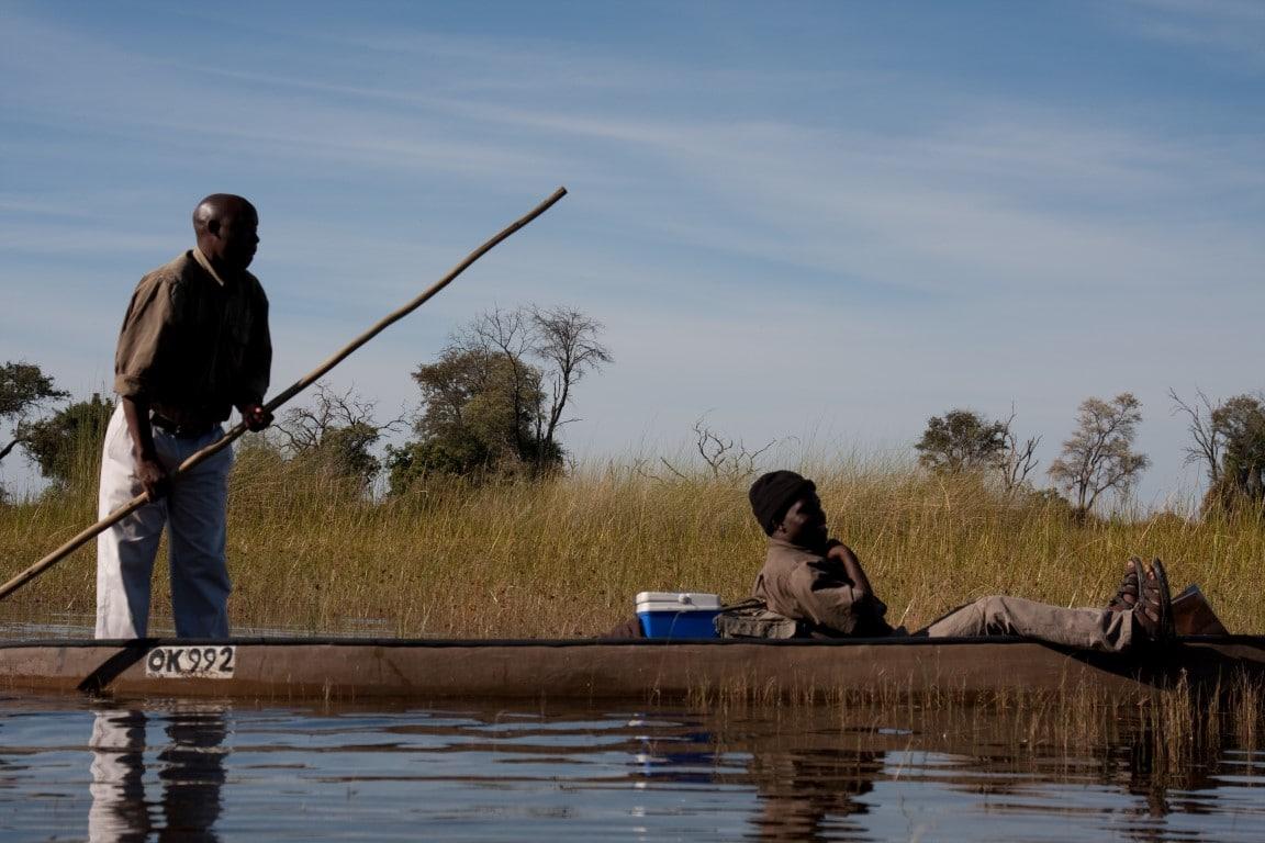 Ontmoet de locals - mokoro tocht, polers, safari, Okavango Delta, Botswana