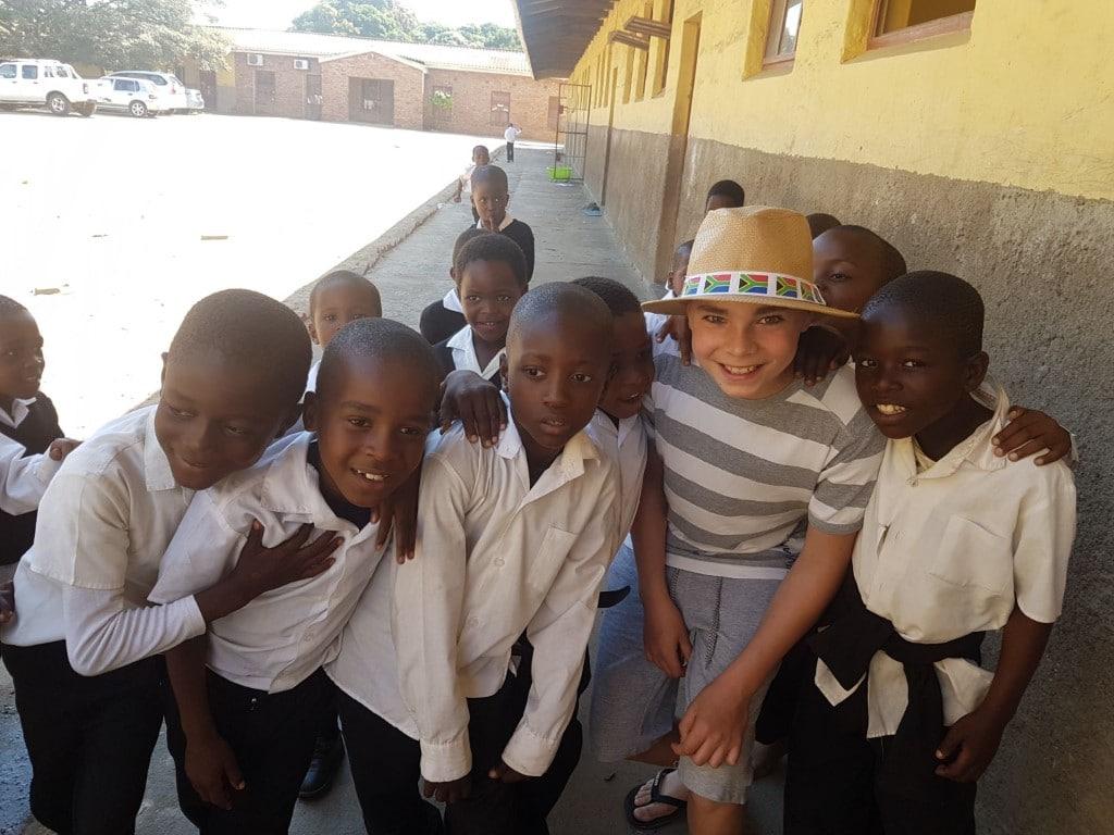 Ontmoet de locals - school, Zulu dorp, St. Lucia, Zuid-Afrika