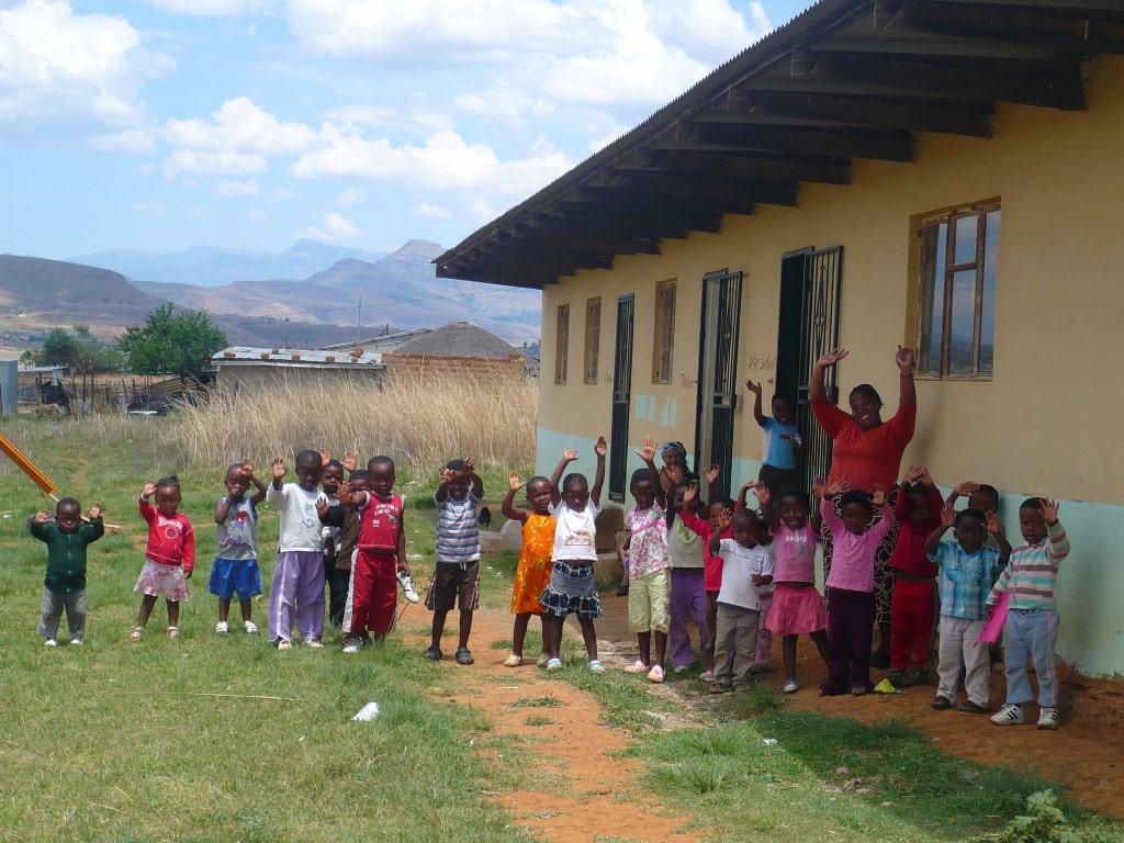 Ontmoet de locals - kinderen, school, Drakensbergen, Zuid-Afrika