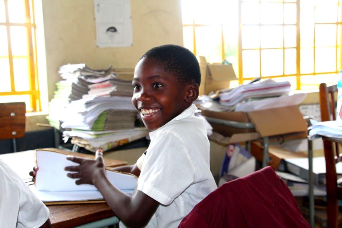 Ontmoet de locals - school, Mudumo NP, Caprivistrip, Namibië