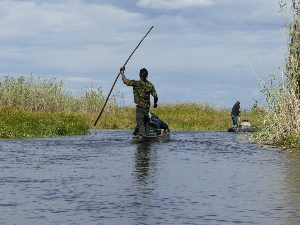 Henk & Ria - Mokoro tocht Okavango delta