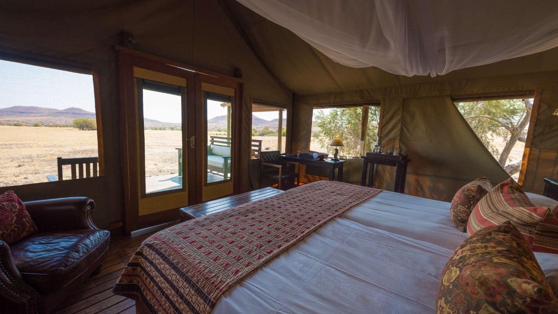 Exclusieve bestemmingen in Namibie - Desert Rhino Camp, Damaraland, Namibie