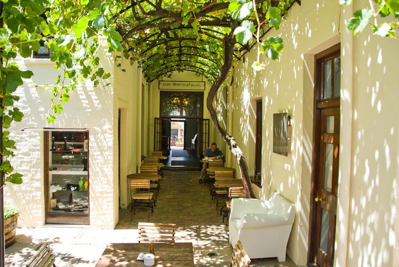 Cape Heritage Hotel - schaduw terras
