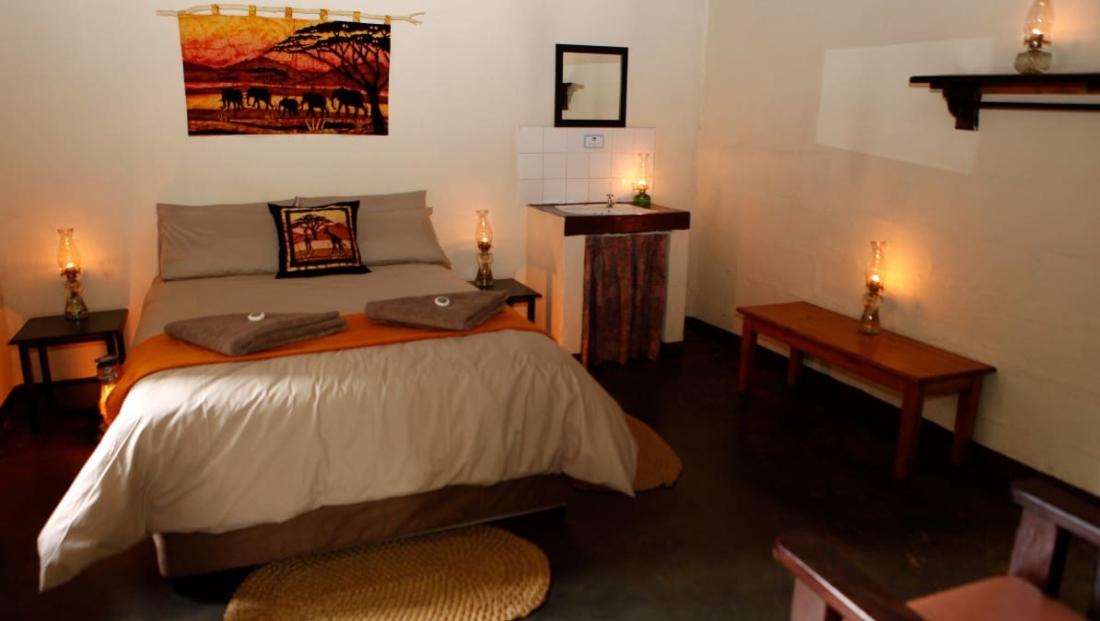 Hlane Royal NP - slaapkamer