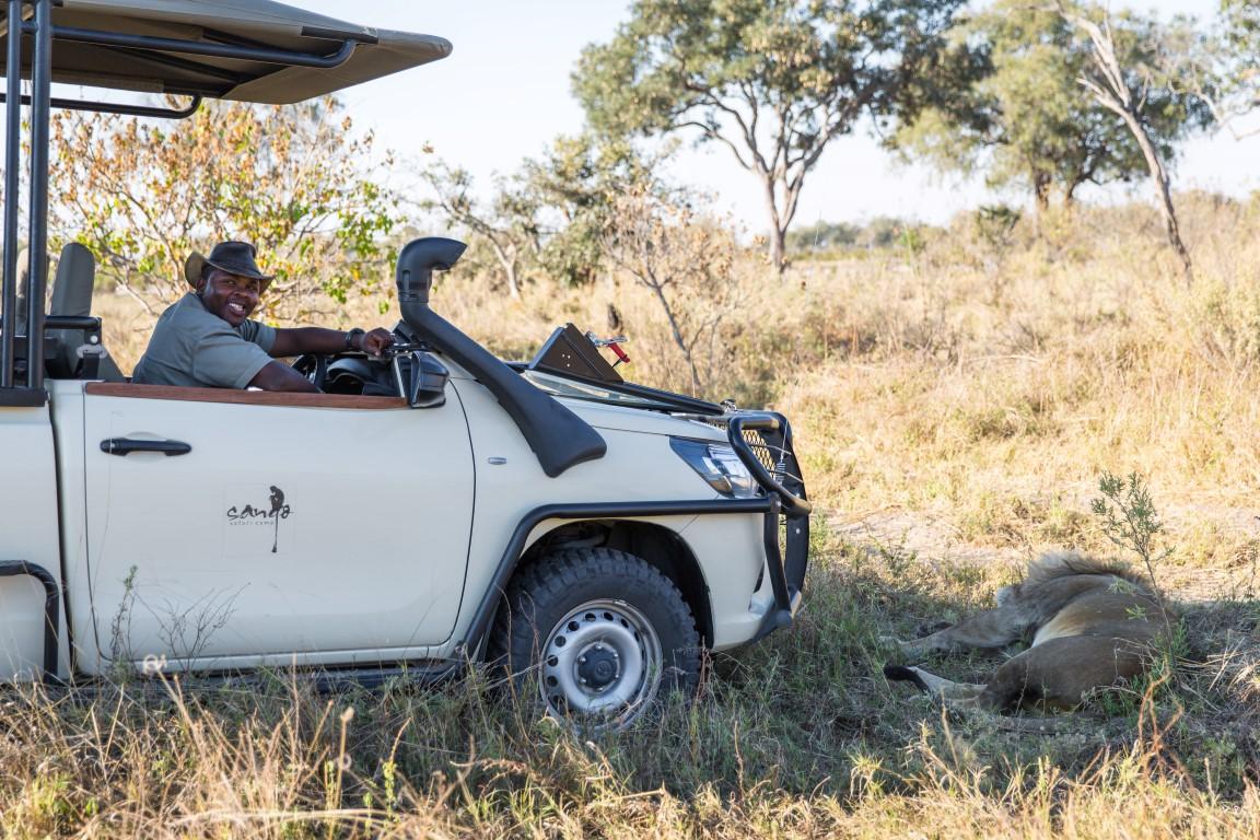 Individuele reizen Botswana: Tijdens een wildrit met ranger ziet u vaak bijzondere dingen.